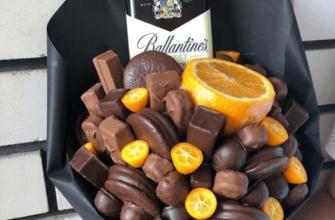 букет из шоколада