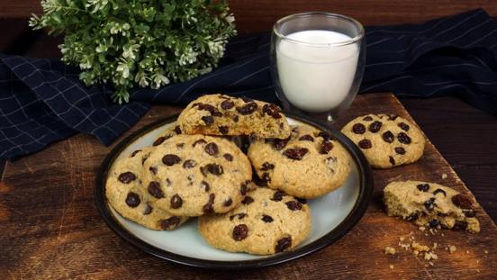 Фото овсяного печенья с шоколадом